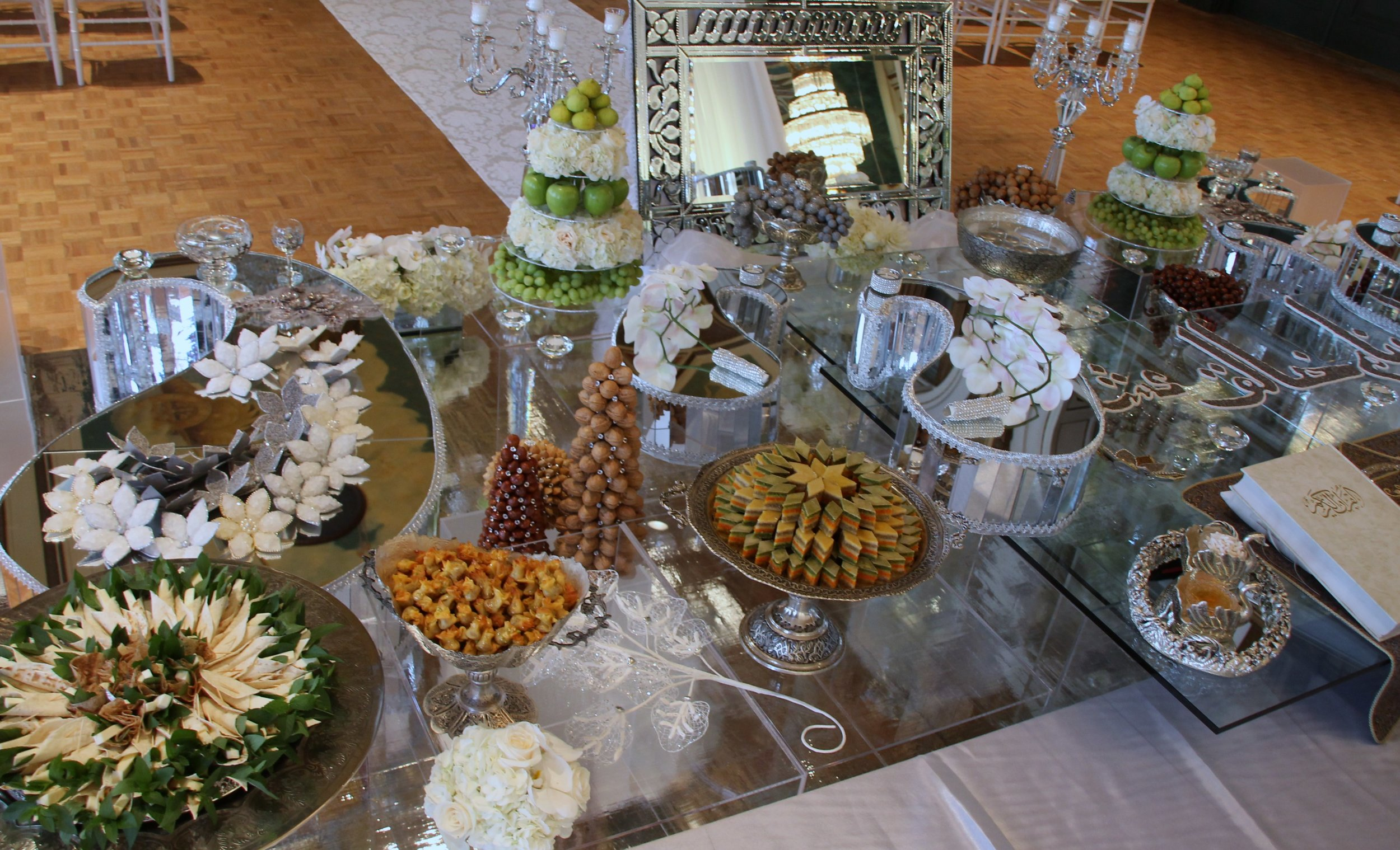 Silver with Paisley Sofreh set up in Fairmont Royal York Hotel-Toronto