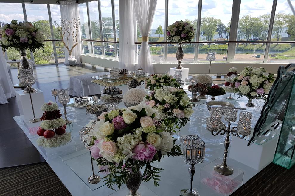 Silver/Crystal Sofreh set up in Atlantis Banquet Hall-Toronto