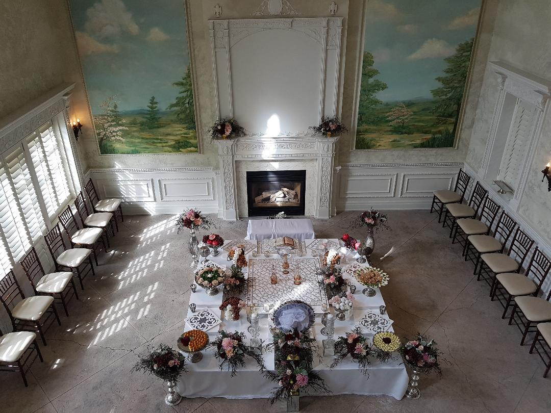 Silver-traditional Sofreh-Graydon Hall-Toronto