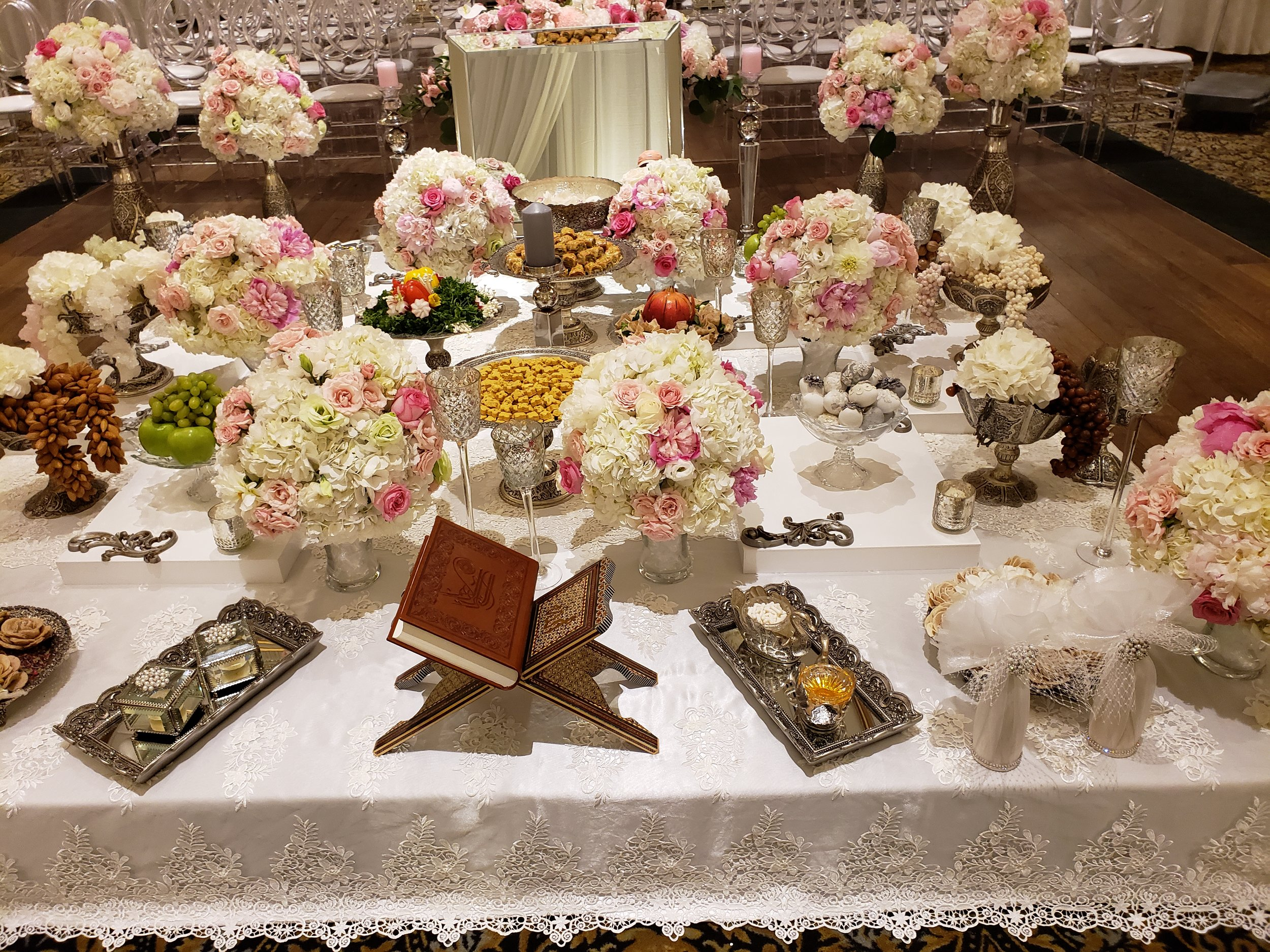 Silver Sofreh-Venetian Banquet Hall