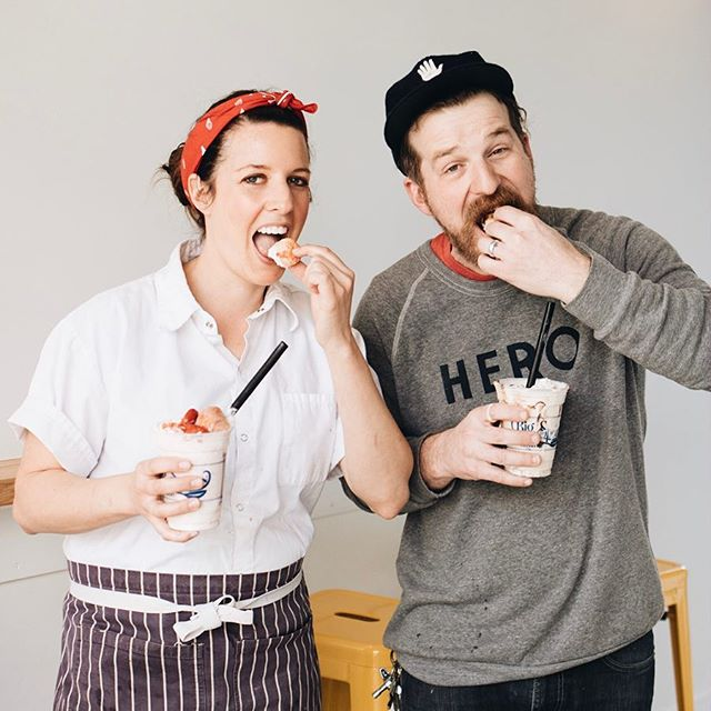 We're partnering up with our new neighbors in Homewood, @bigspooncreamery! To celebrate the first weekend of Spring, the HERO SUNDAY AND MILKSHAKE will be available! Available at both @bigspooncreamery locations March 22-24 only. Go get you some 💥