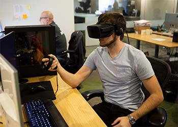 Jackson using the Oculus VR system.