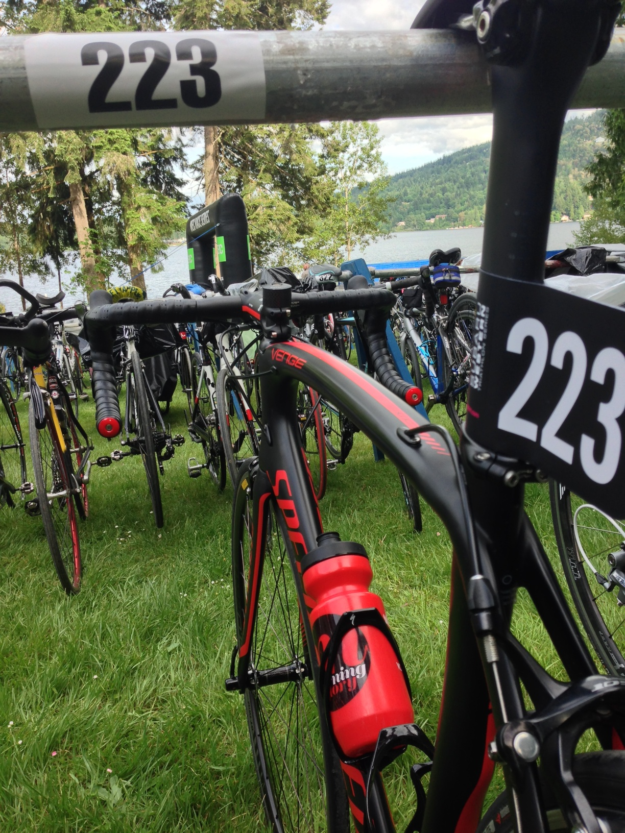 Bike 223 is racked and ready!