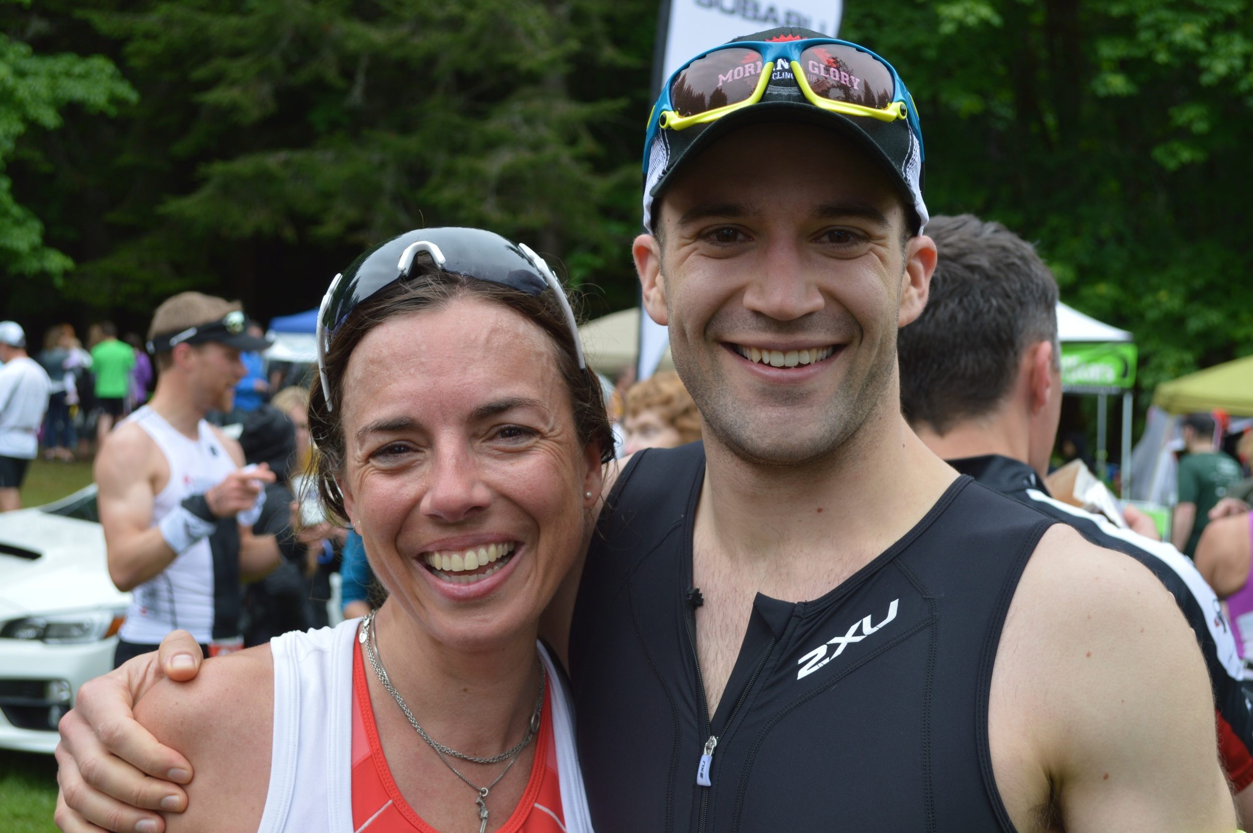 With racing buddy Juliet Korver. This lady is fast!