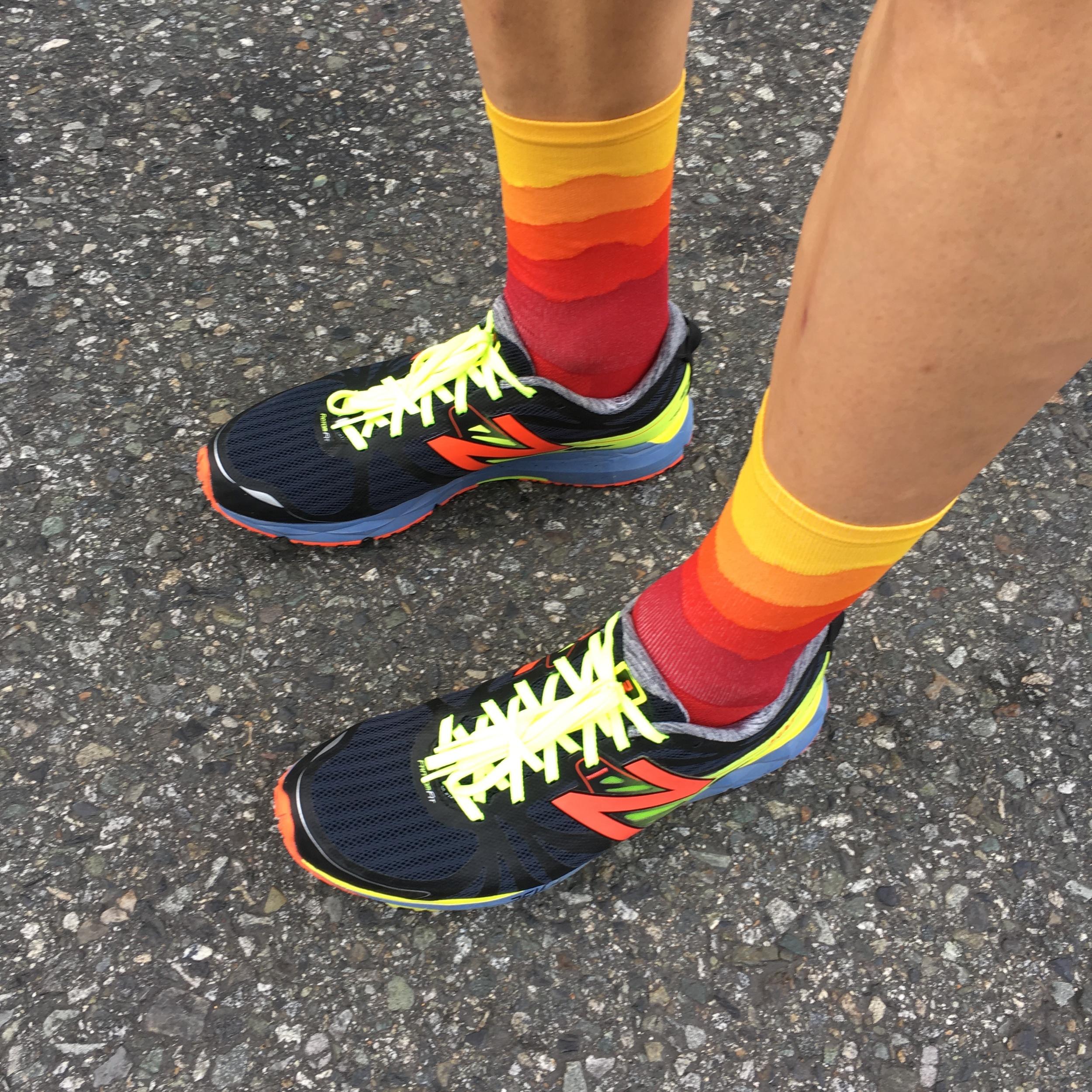 Winning the sock game...