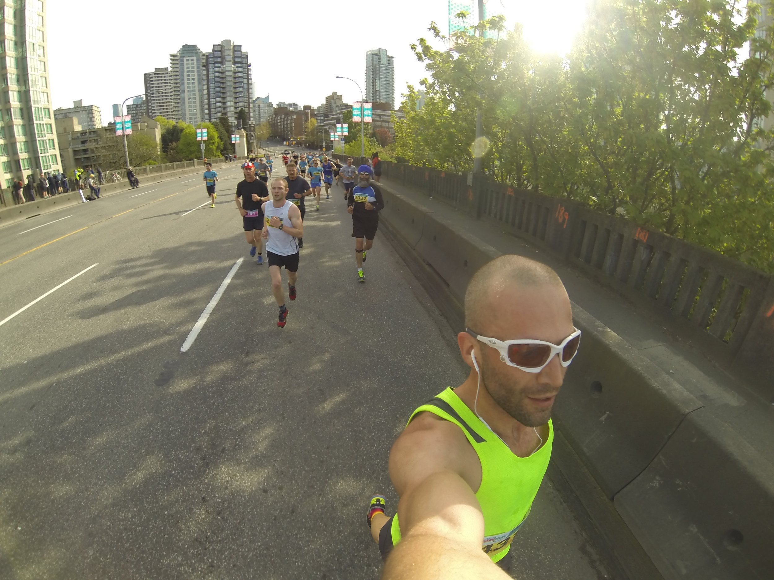 Heading up and over Burrard bridge