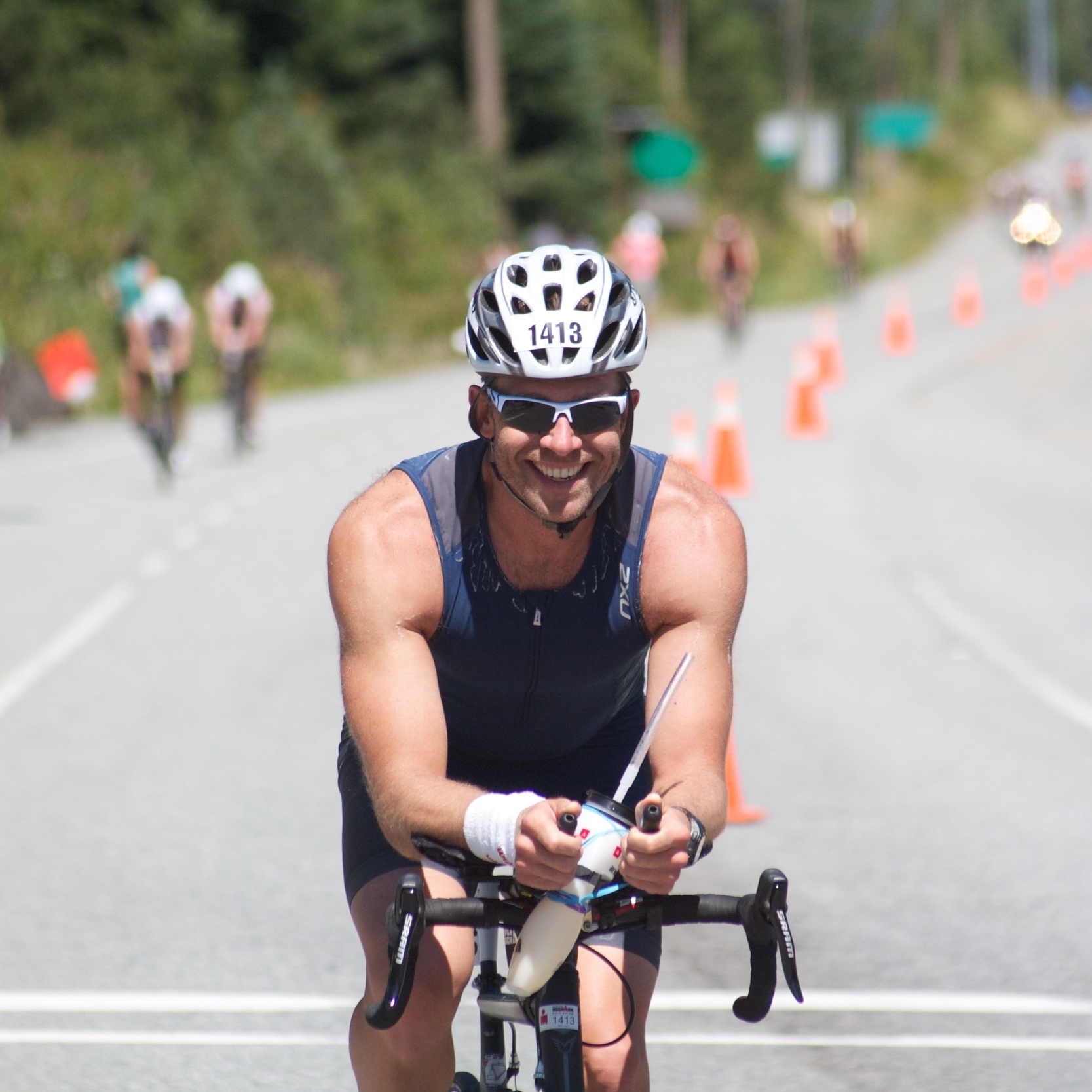 Greg is all smiles at Ironman Canada