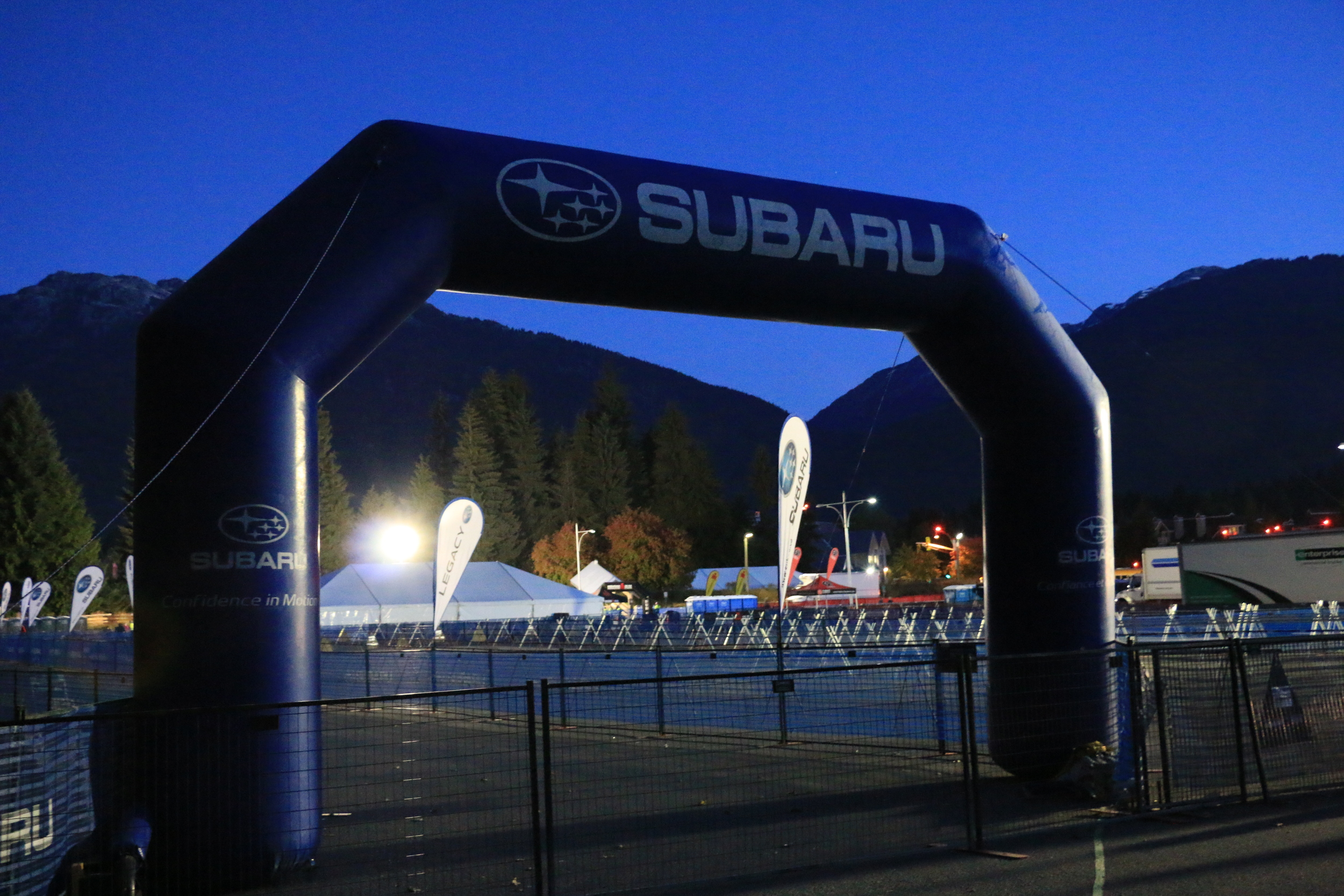I love the pre-dawn hush of a race morning