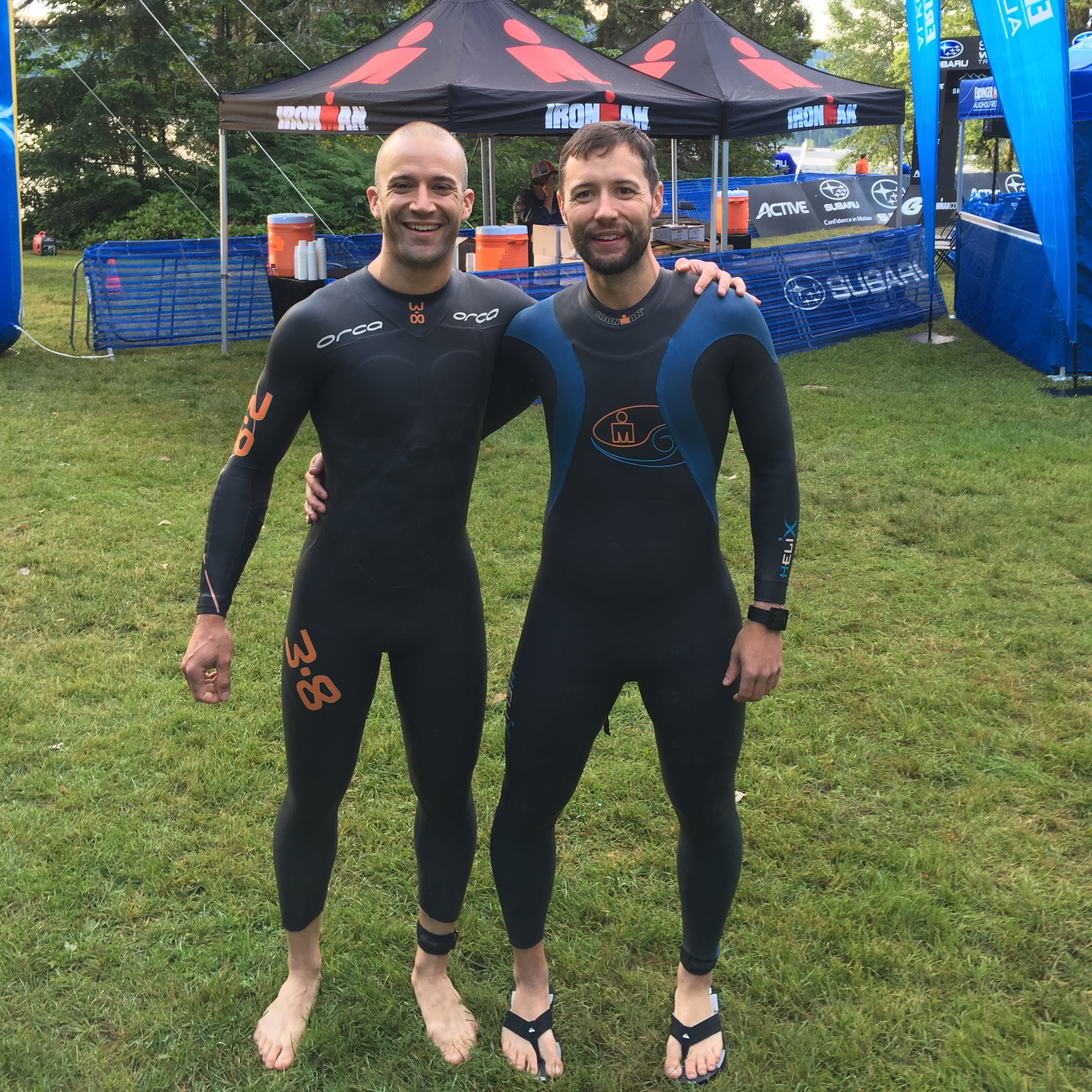 Plenty of time for the wetsuit change