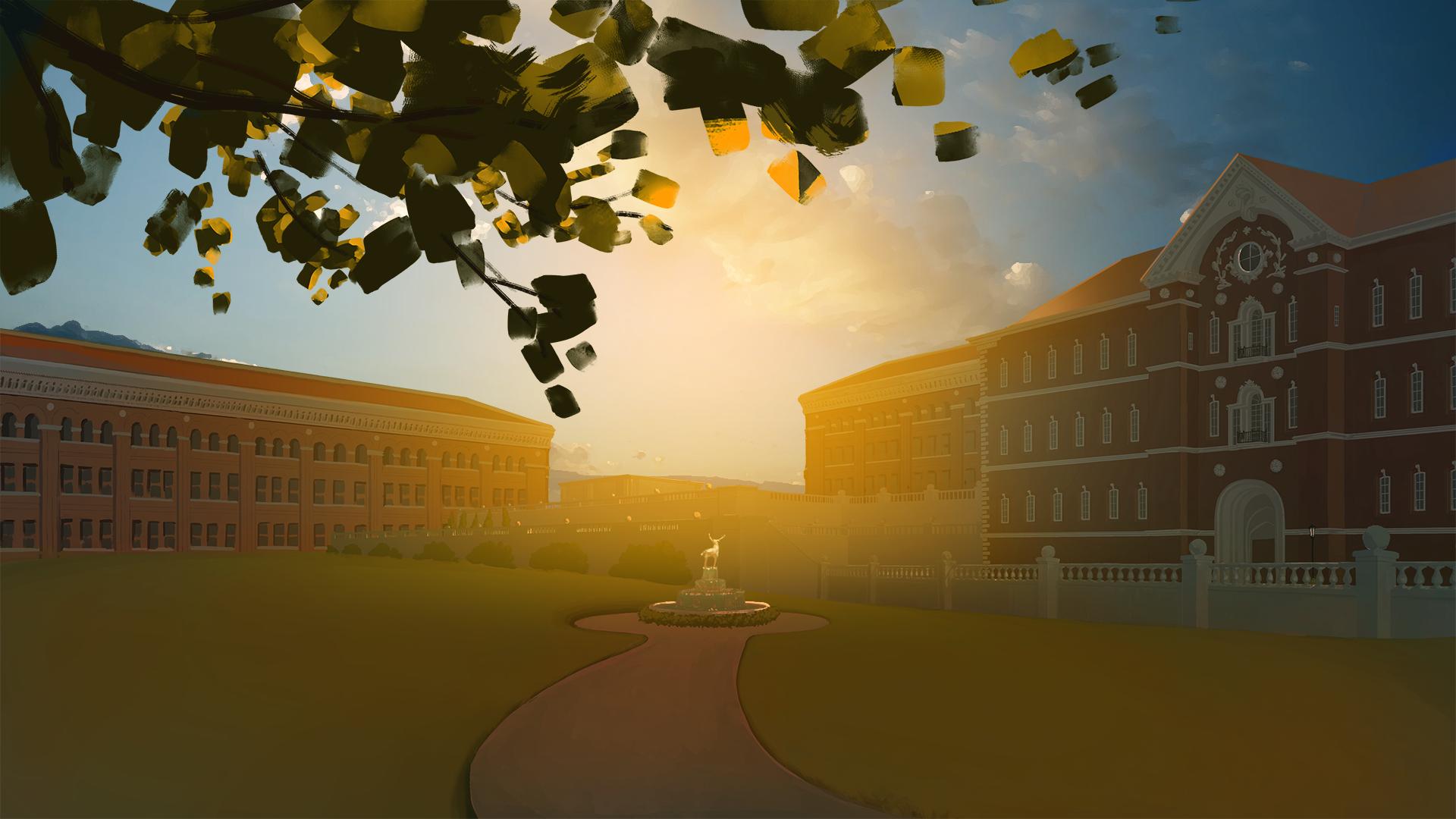 University Courtyard 02 | B. Chau