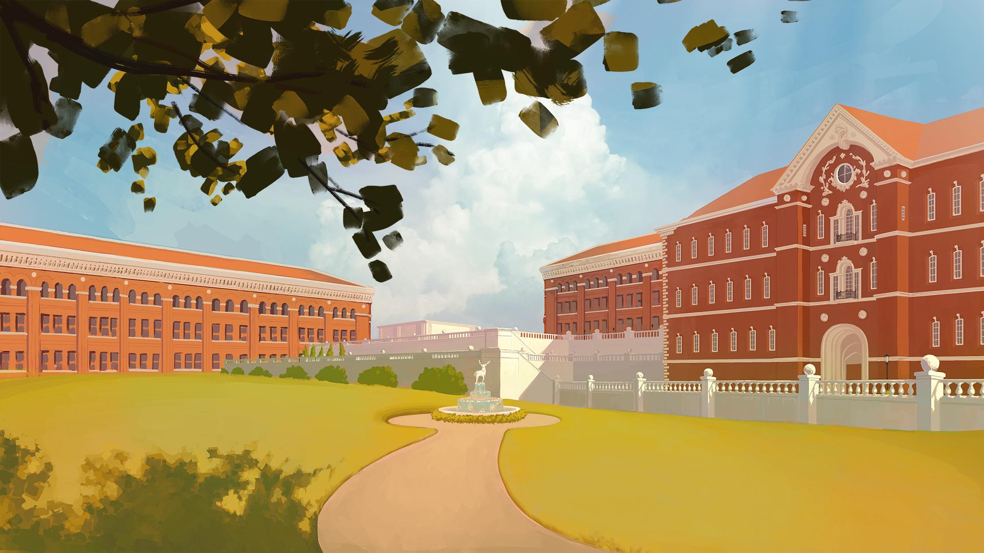 University Courtyard 01 | B. Chau