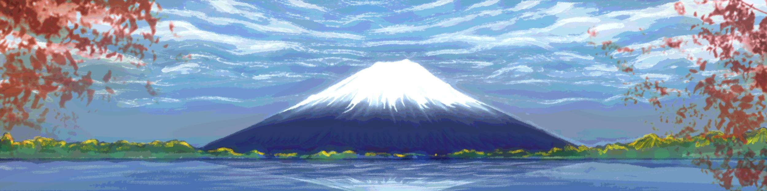 """""""Mt. Fuji"""" in-game mural"""
