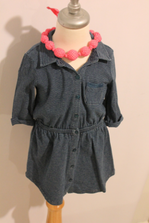 One of the treats for my princess. Dress Splendid $48/Necklace Peppercorn kids $12