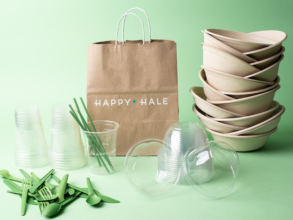 Compostable wares from Eco Products and Sabert through Compost Now