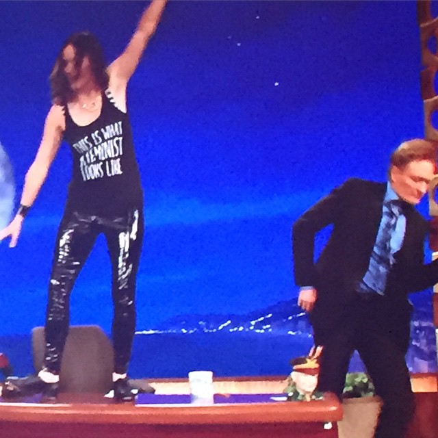 I am on Conan tonight. This happens.   11pm TBS