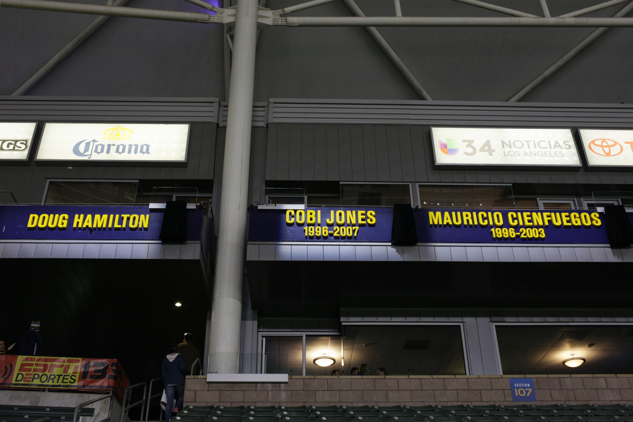 LA Galaxy honor club legends Cobi Jones, Mauricio Cienfuegos and Doug Hamilton as the inaugural Ring of Honor class.