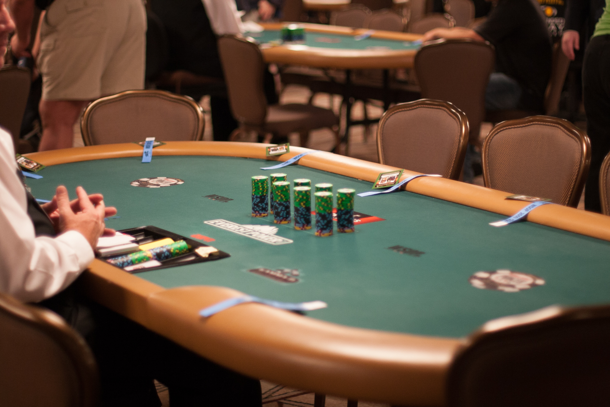 Imagine that you're a poker player playing a cash game at your local casino.You've been playing since the table first opened for the day and have built a very sizable chip stack. -