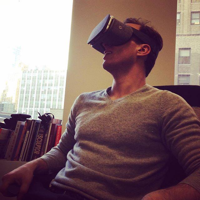 Brandon on a rollercoaster 🎢 . . . #VR #virtualreality #google #daydream #googledaydream #playingwithtech #tech #newtech #startup #startuplife