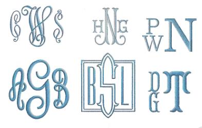 Sample Standard Monograms