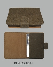 Brown Faux Scotch Grain Card Case $29