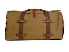 Washed Green Canvas Duffle Bag $96
