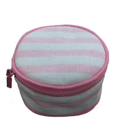 Pink Stripes Jewlery Round $34