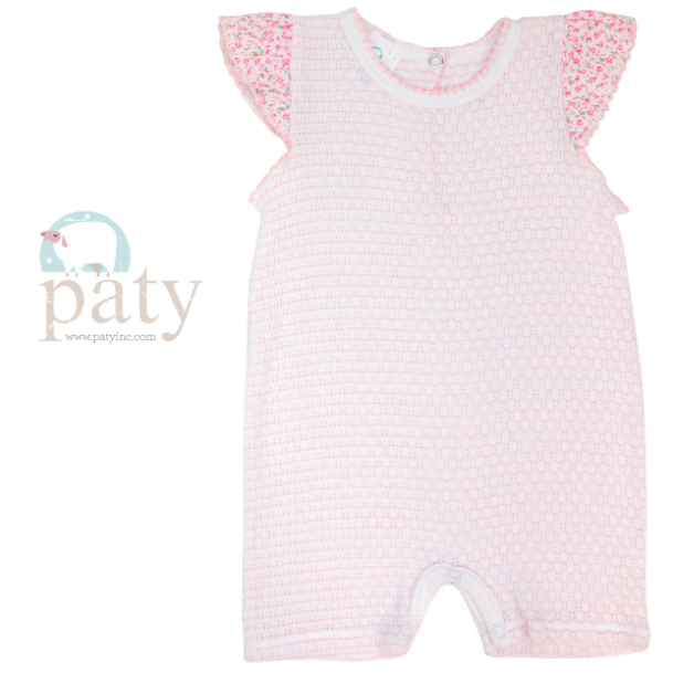 Paty Inc. Pink Floral Knit Playsuit $34 (Available in Blue)