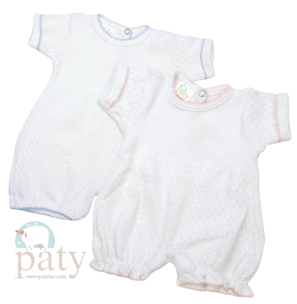 Paty Inc. Blue Stripe Knit Playsuit $34 (Available in Pink)
