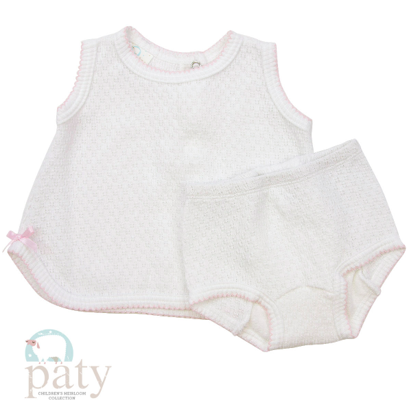 Paty Inc. 2 Piece Pink Sleeveless Set $36  (Available in White and Blue)
