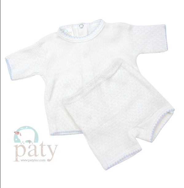 Paty Inc. 2 Piece Blue Sleeves Set $36  (Available in Pink and White)