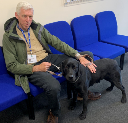 Jamie our Reading Dog with Martin. -