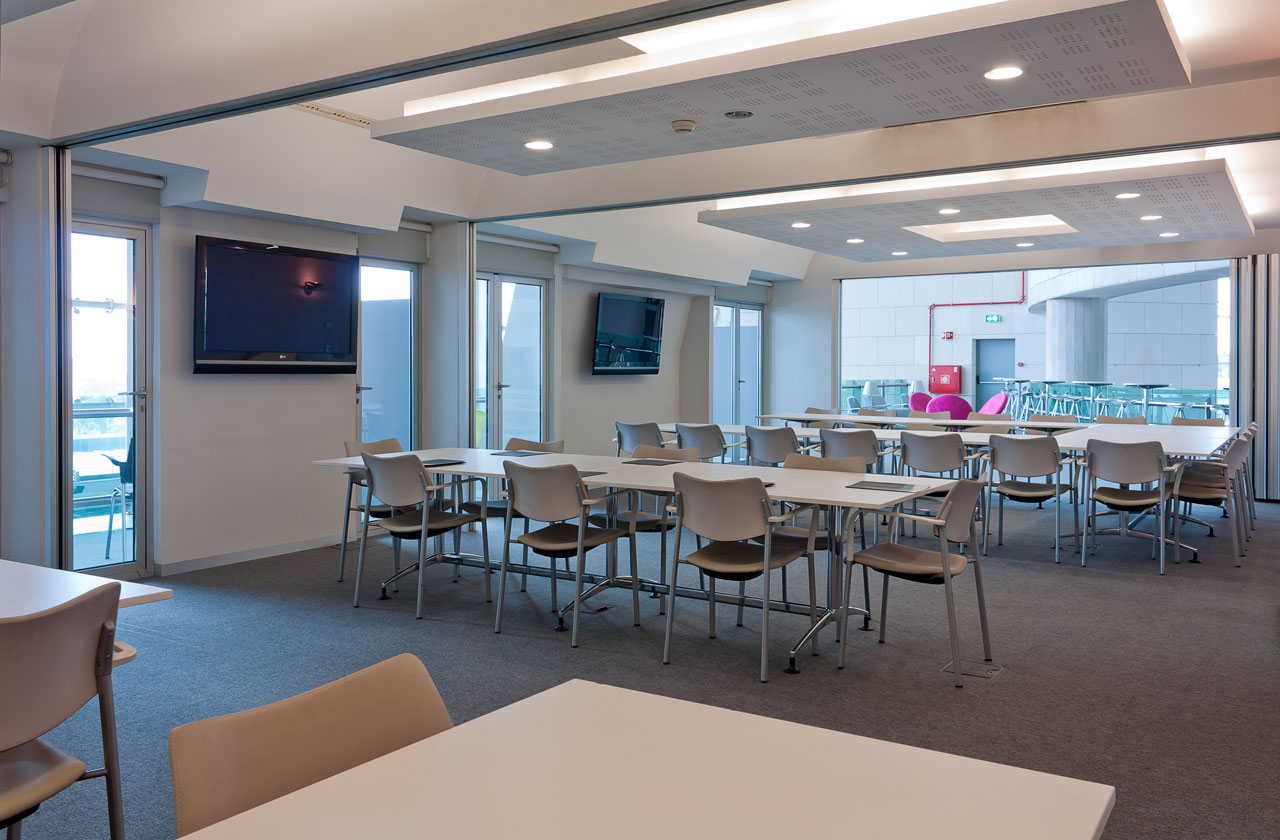 All conference rooms plus lounge 2