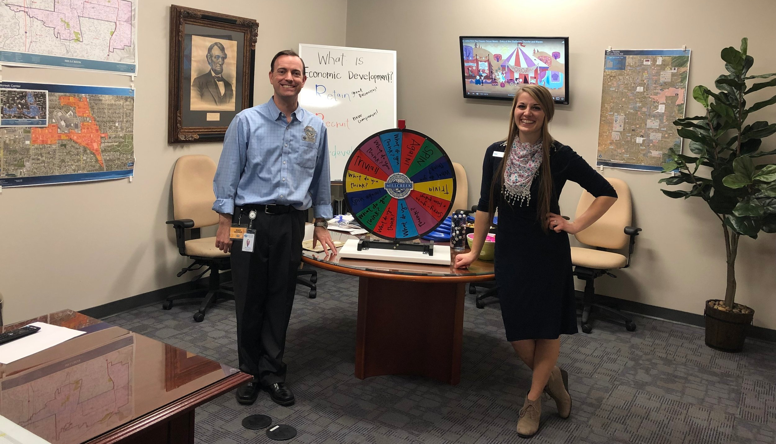 Economic Development Director Mike Winder and Assistant Nicole Lindsay