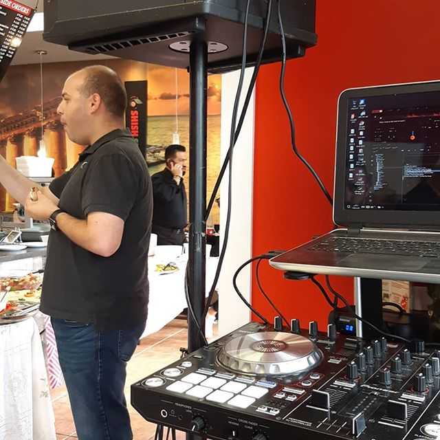 A DJ is now a necessity at every grand opening!! Congratulations @shishshawarma we are so happy to have you Downtown Leduc! #delicious #welcome #lebenese