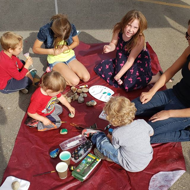 Come hang out at the party in the park!!!! We are painting #leducrocks . . . #partyinthepark #leduc #locial