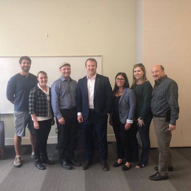 A big thank you to our MLA Brad Rutherford for taking time to sit down with local business owners to discuss any current issues and thank you to the @leduclibrary for lending us your board room!