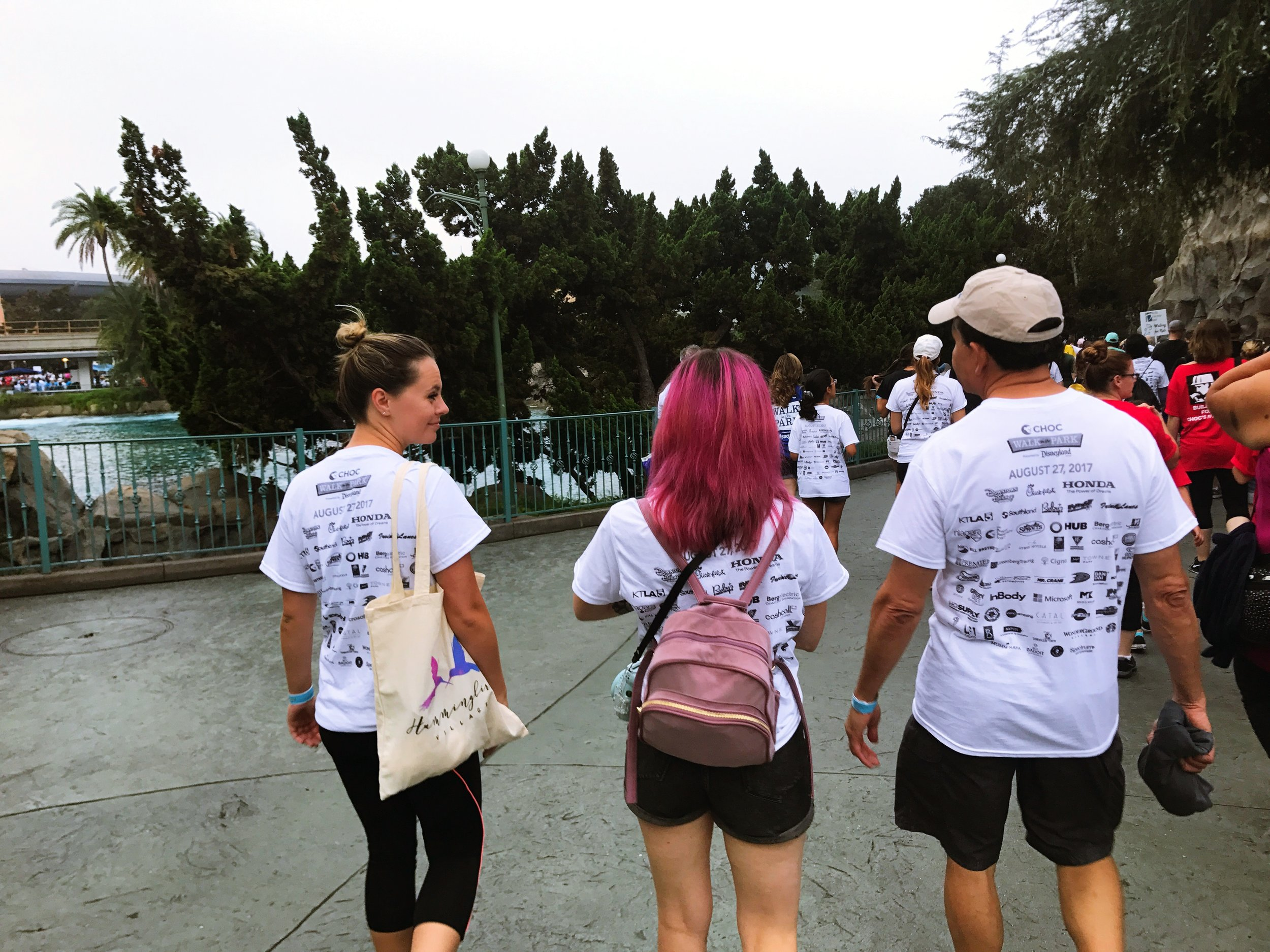 We joined our team and set out to walk through Disneyland!