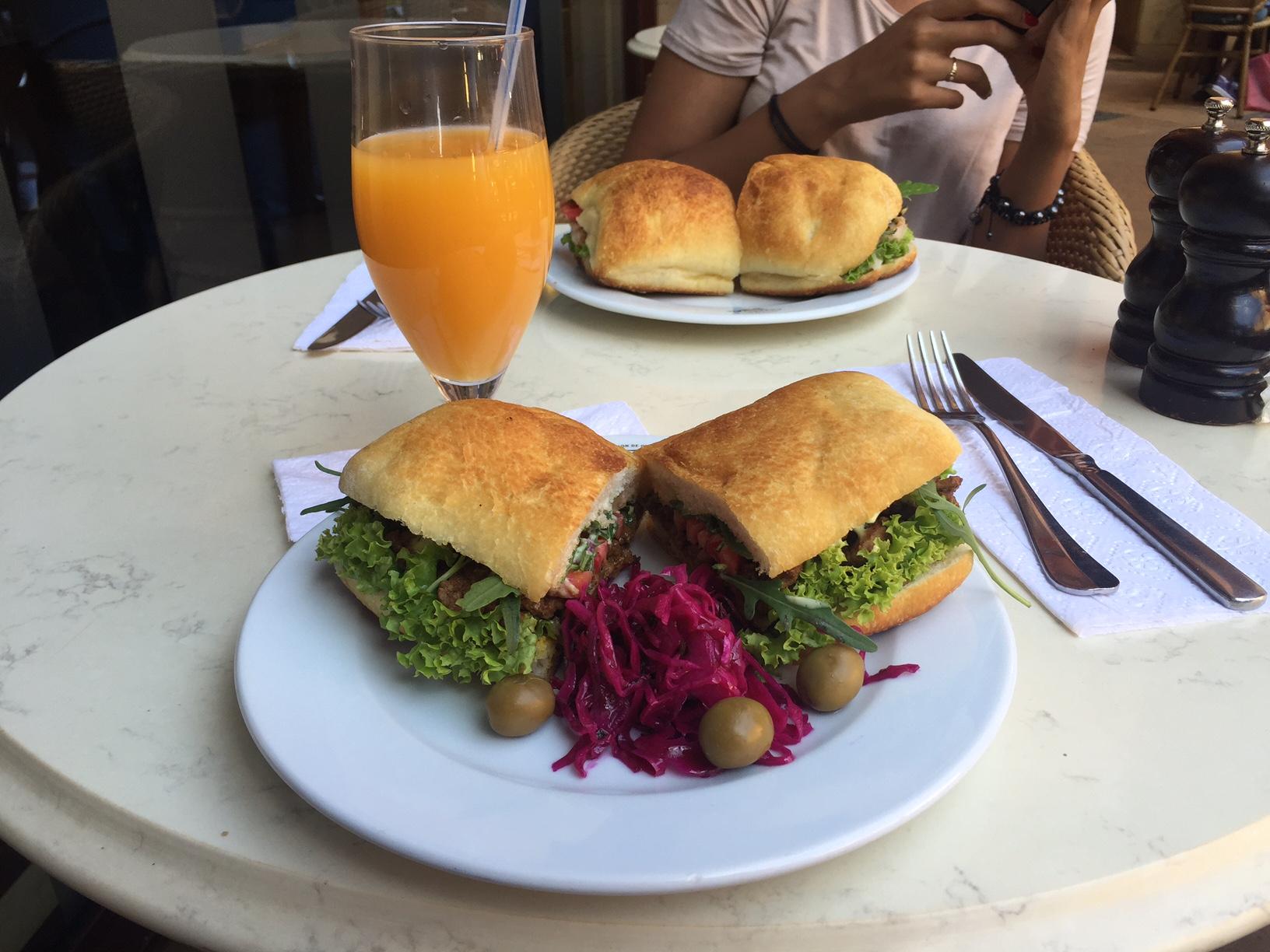 Hot steak sandwich, at Cafesserie.