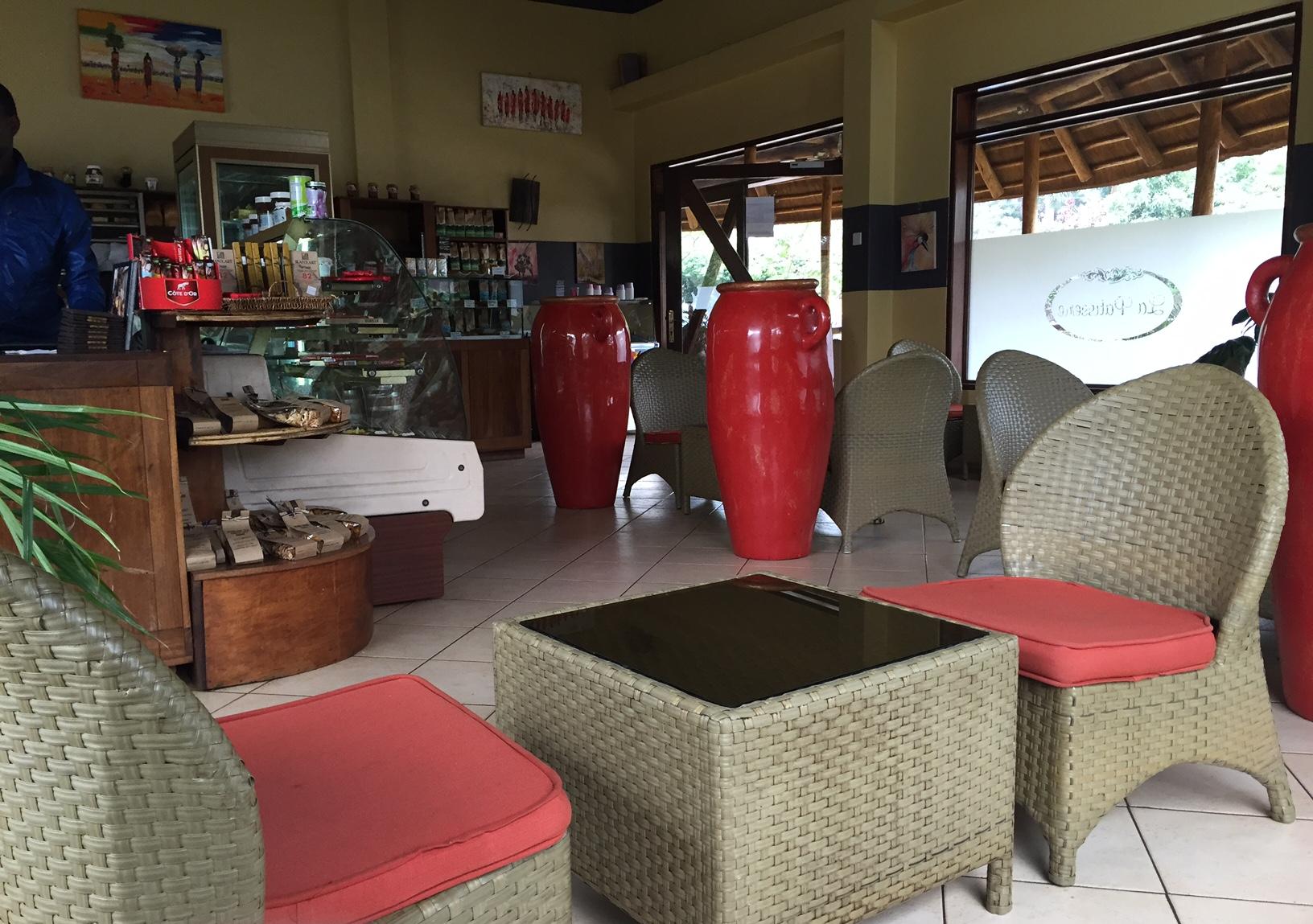 Inside of La Patisserie, on Ggaba Rd.