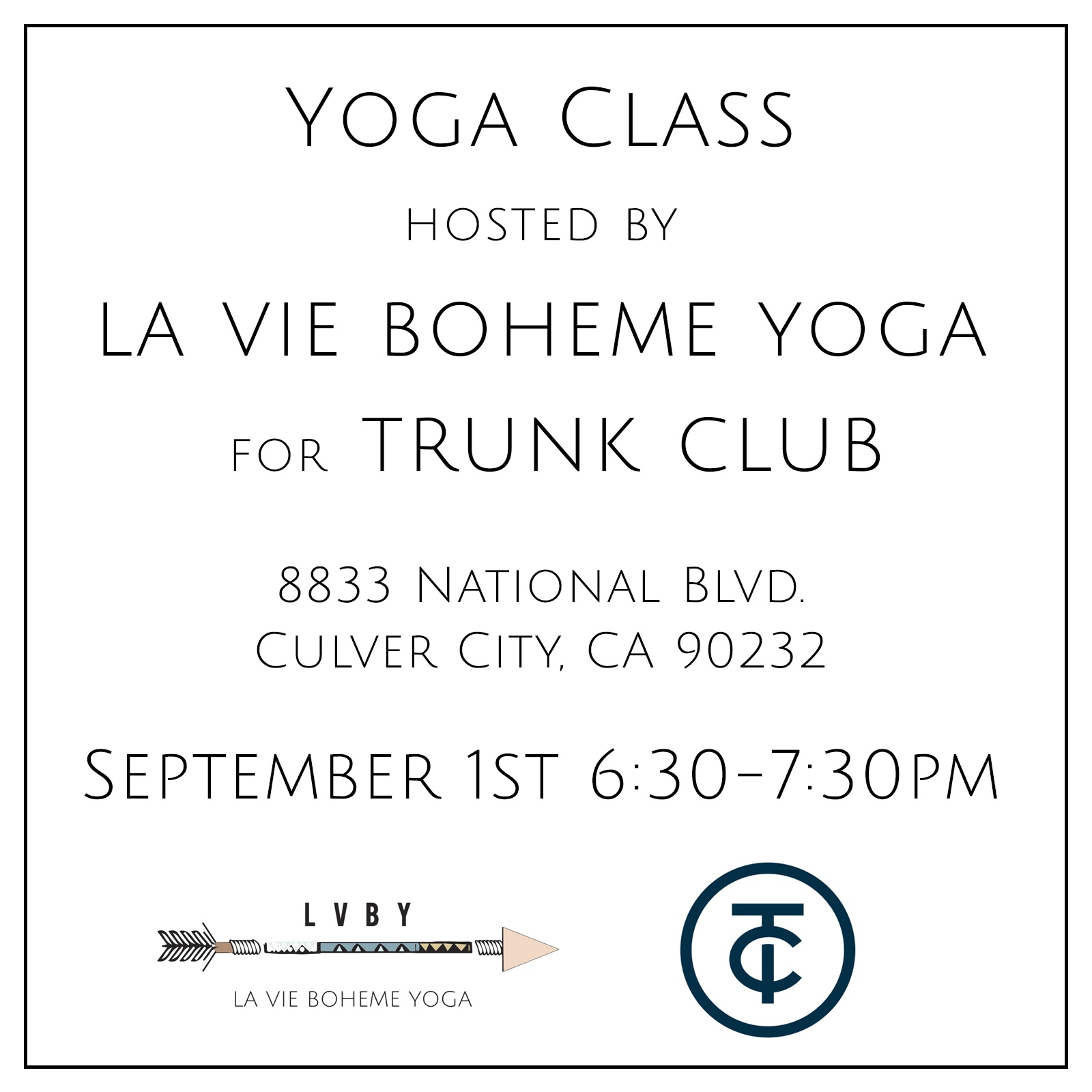Corporate Yoga Hosted By LA VIE BOHEME YOGA For TRUNK CLUB