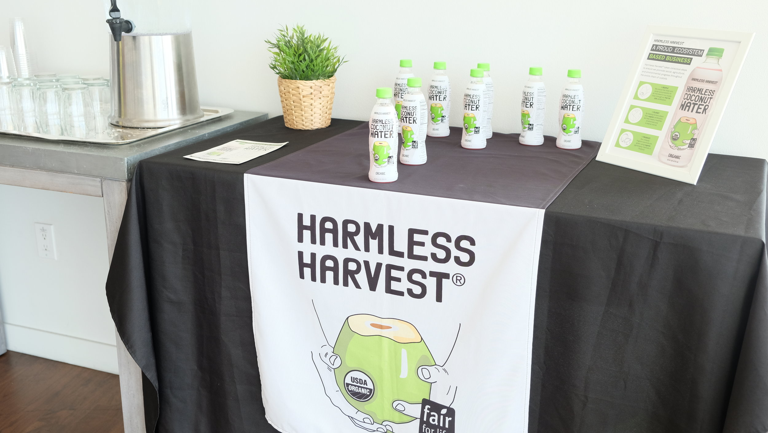 Harmless Harvest Yoga with a View Sponsor