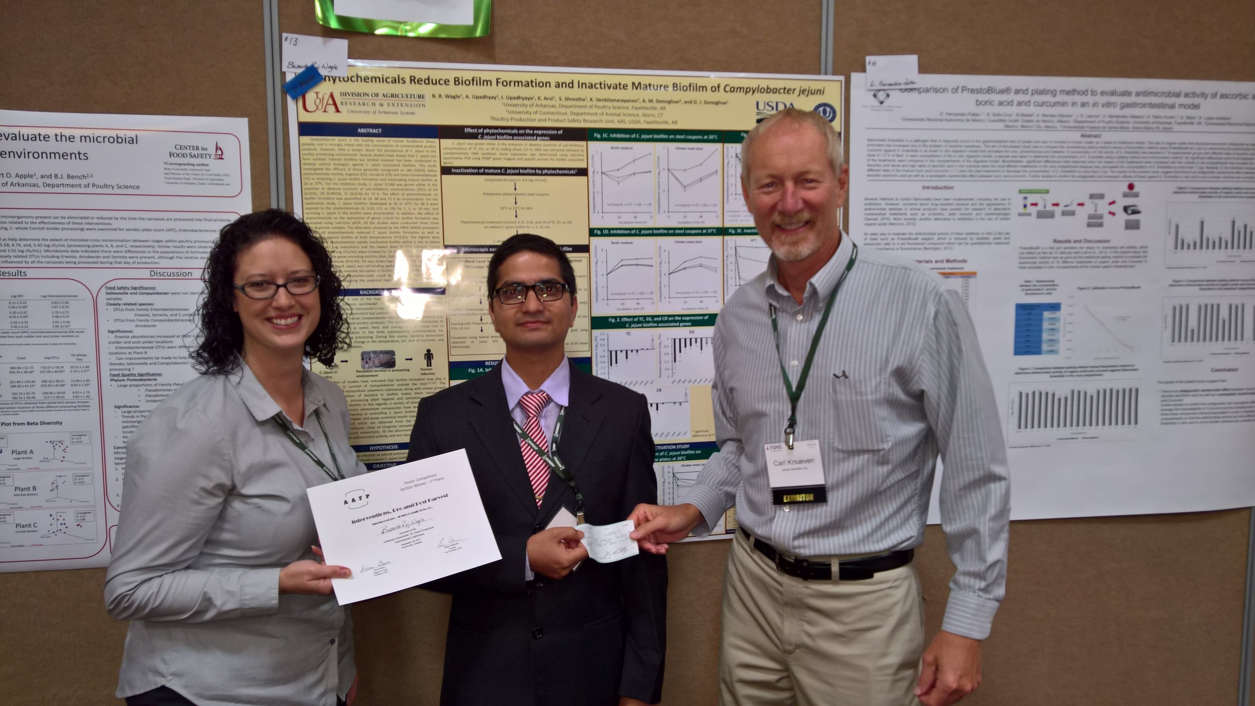 Basanta Raj Wagle - University of Arkansas1st place Interventions, Pre and Post Harvest