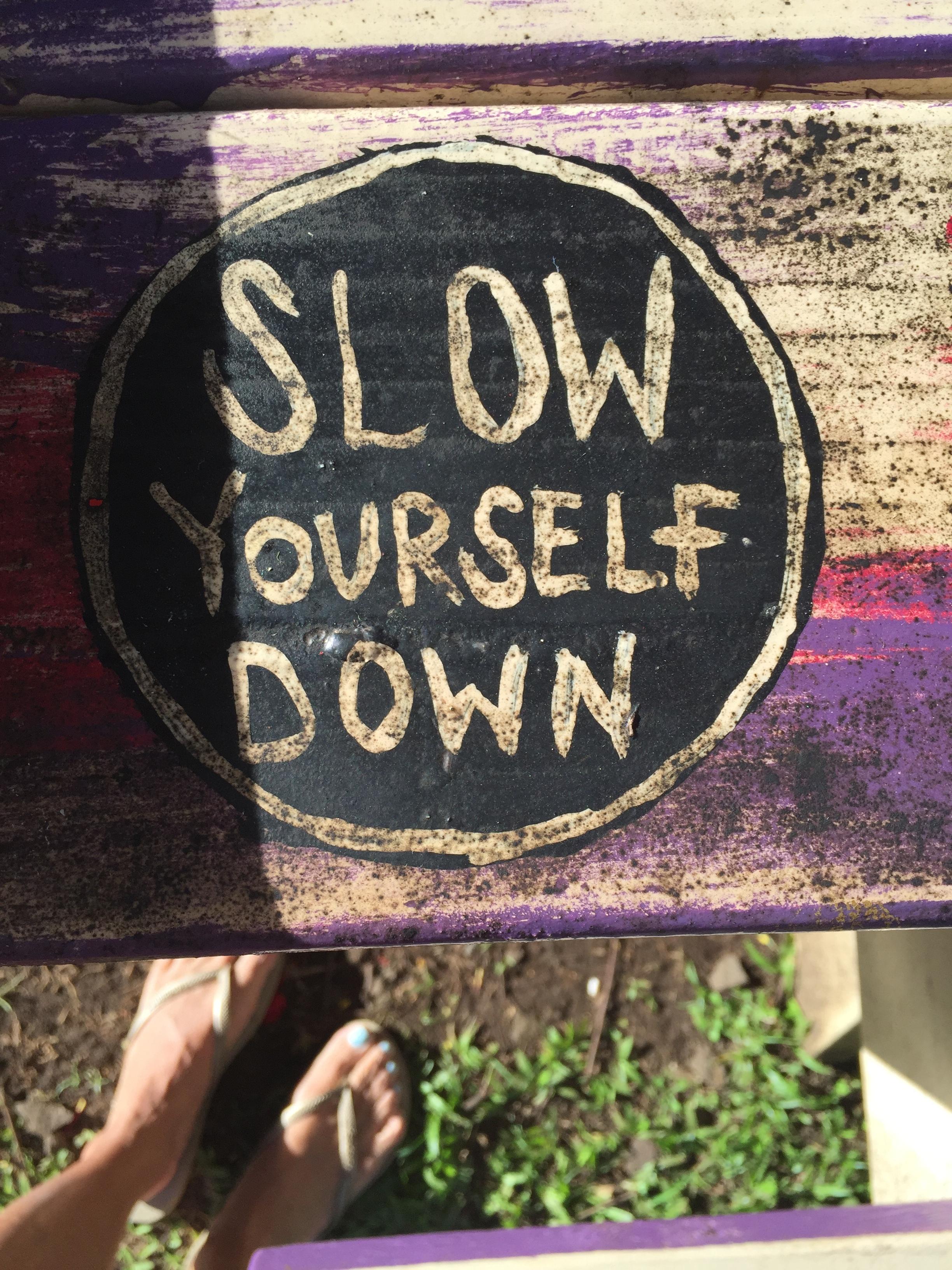 slowyourselfdown
