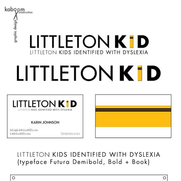 Newest work: a logo for Littleton Colorado Kids Identified with Dyslexia. littletonkid.org #littletonkid #dsylexia #colorado #kaboomconstruction #graphicdesign #logo #brand #brandidentity #design