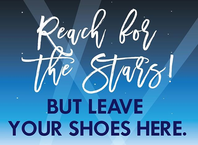 Today I'm working on Manhattan Beach Middle School promotion. The theme is Reach for the Stars and we needed a sign for the shoe drop off in the gym at the after party 👠 👞 🌟🌟🌟🌊💙 #MBMS #manhattanbeach #middleschool #graduation #8thgrade #shoes #graphicdesign #smile