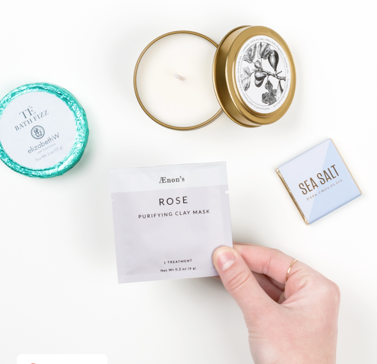 A Self Care Kit   Show her how much she means to you by letting her take a little time out for herself. This box from Greetabl is so cute and really affordable at only $25.