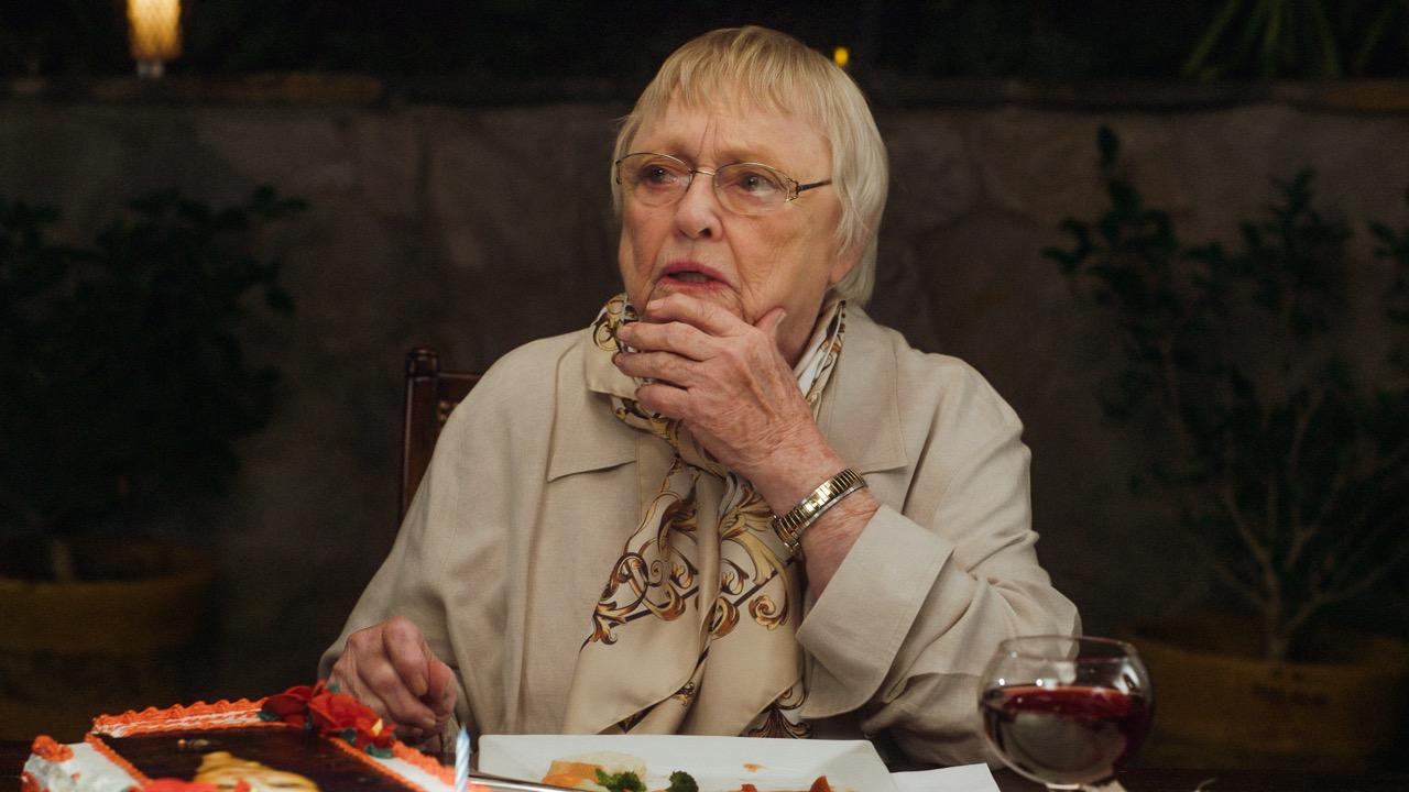 The amazing Pat Carroll as Joan.
