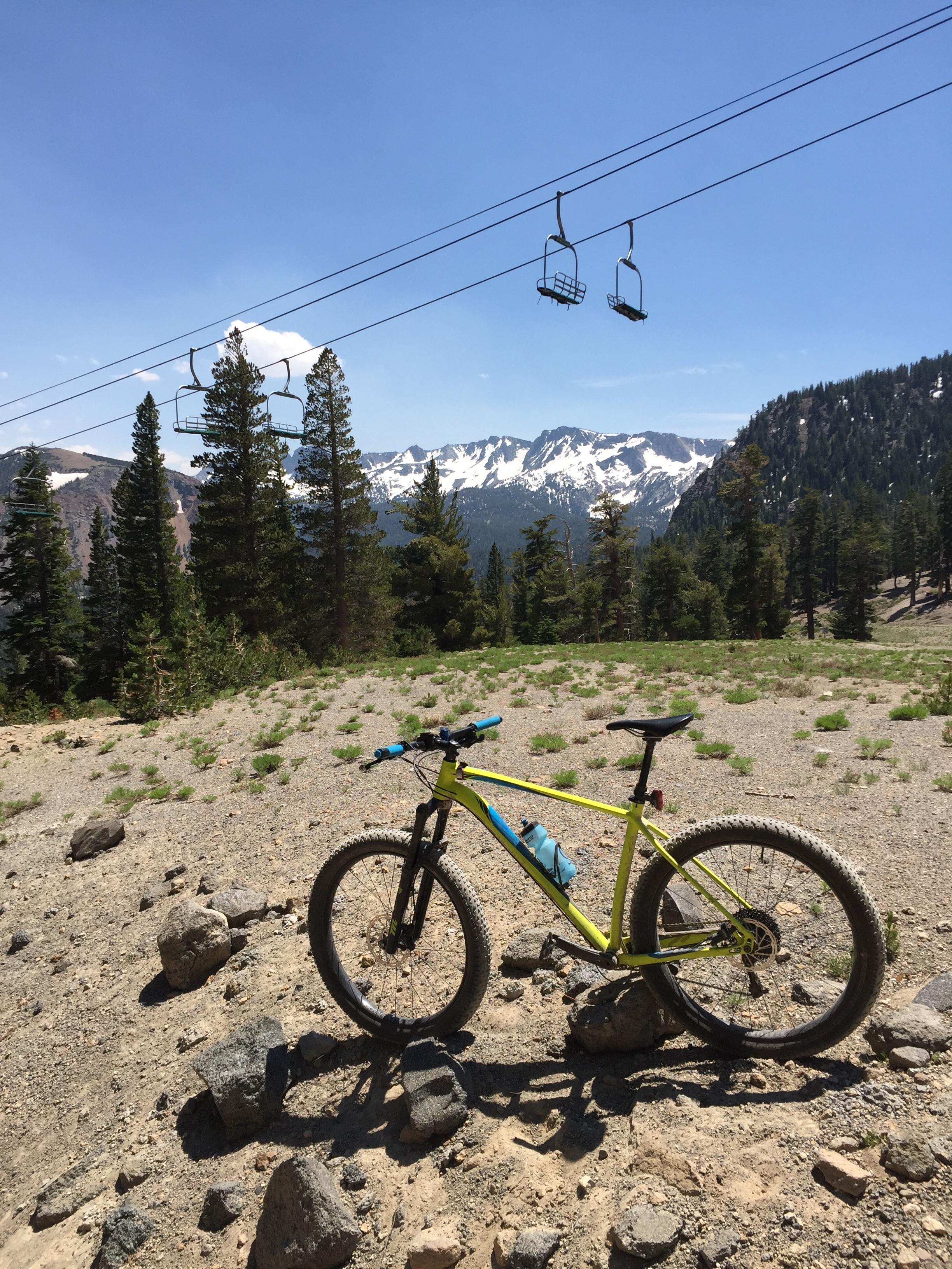 Ski and bike on the same mountain on the same day. Bucket list check.