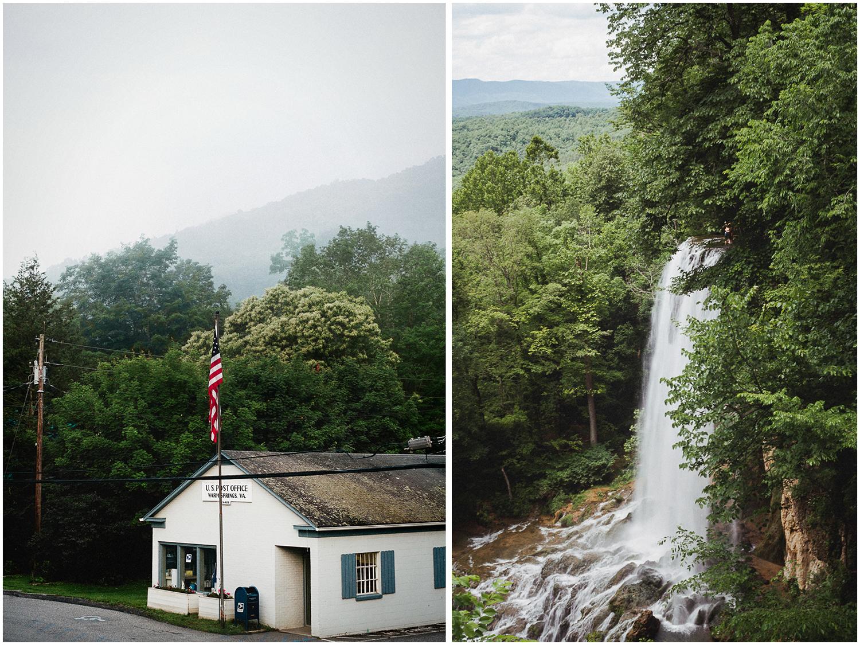 Warm Springs, Virginia Post Office   Falling Spring Waterfall