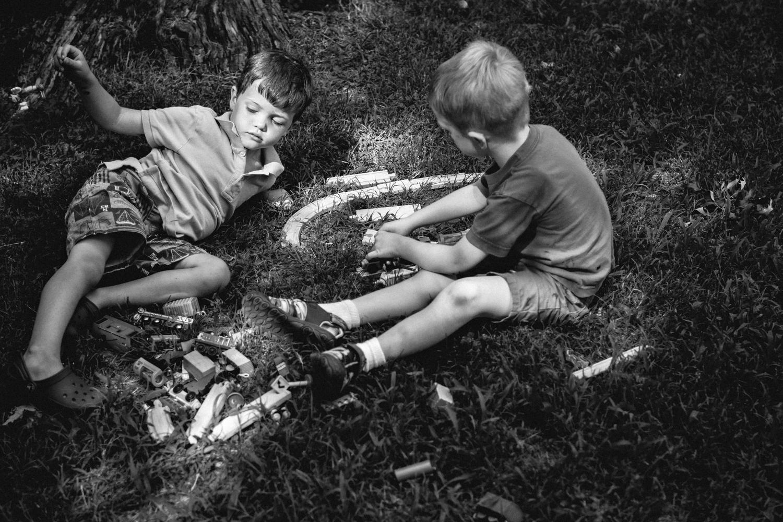 cousins at play